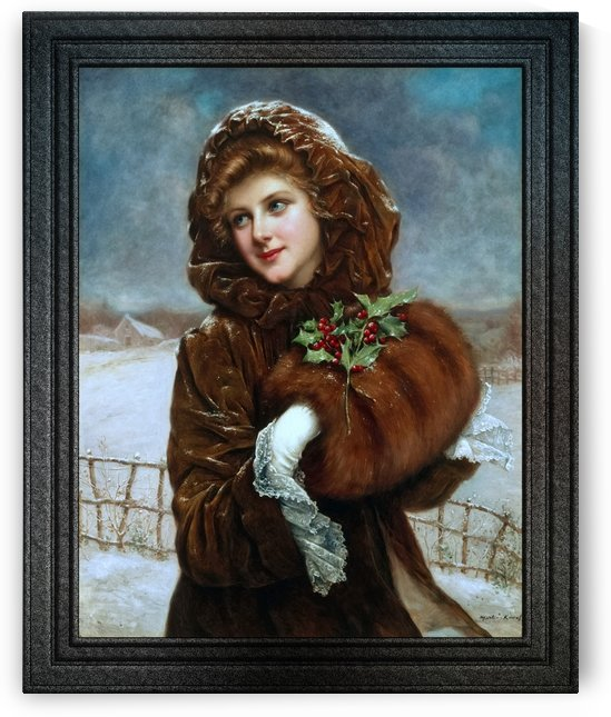 A Winter Beauty by Francois Martin-Kavel Vintage Old Masters Art Nouveau Reproduction by xzendor7