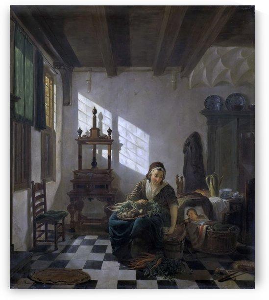 De huisvrouw by Abraham van Strij