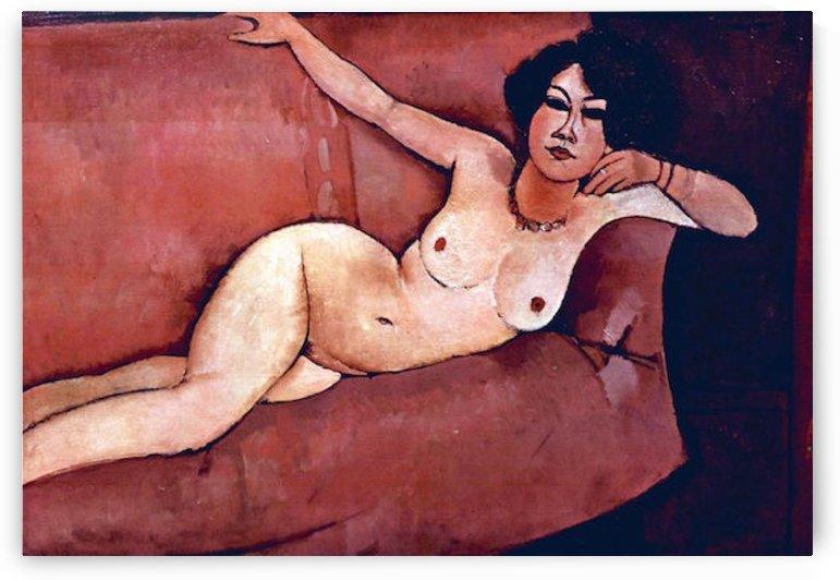 Modigliani - Act on a sofa (Almaiisa) by Modigliani