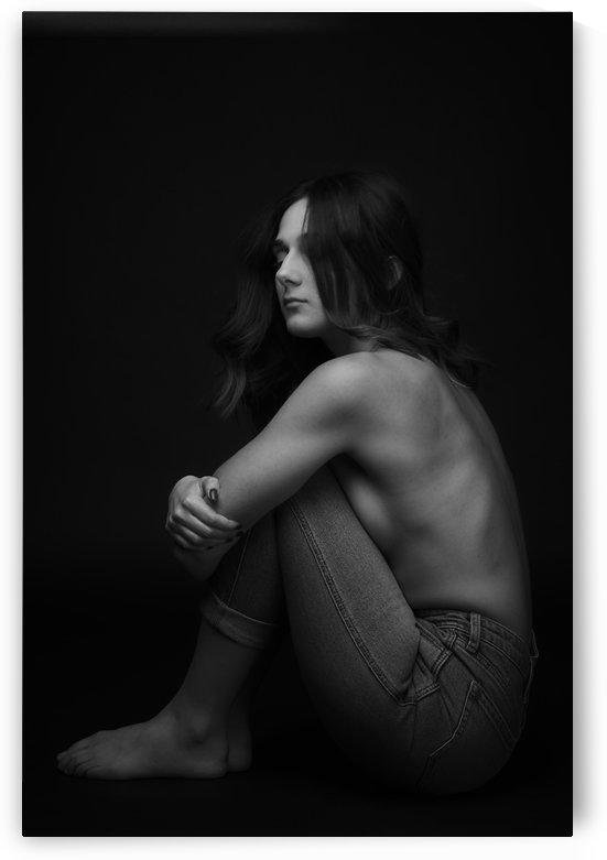 Black and White Woman Portrait 1 by CarlosDoesPhoto