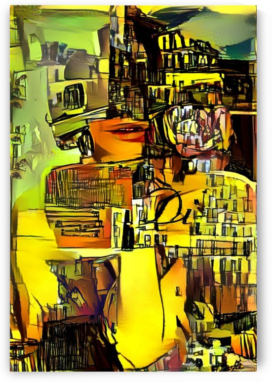 collage girl  and city by Zigzag