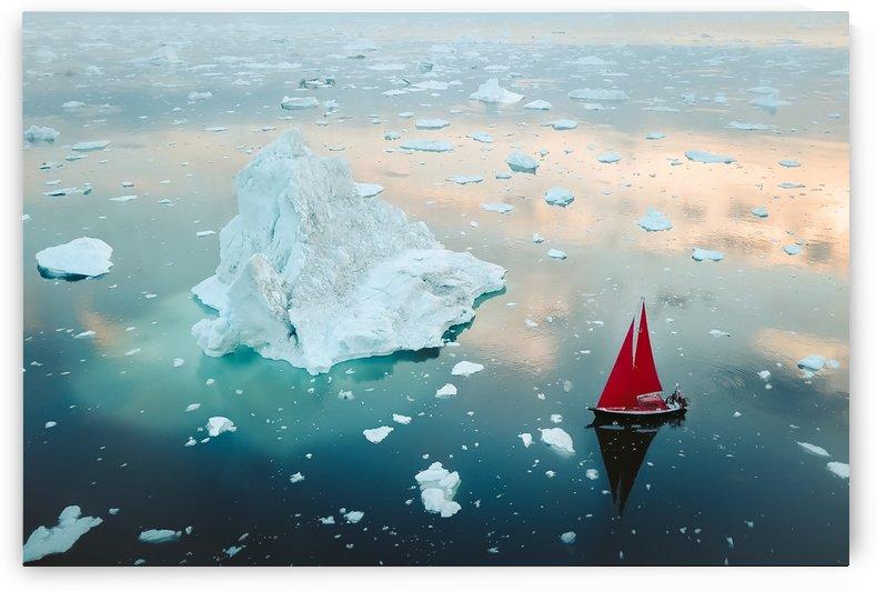 Sailing Amongst Icebergs by Fameisficklefood