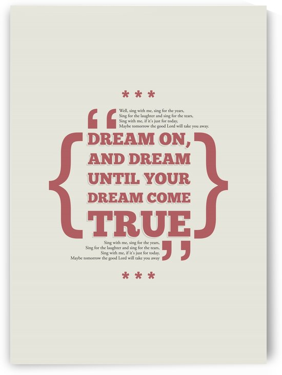 Dream On by Rahma Projekt