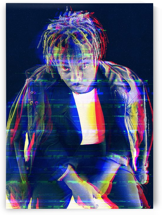Juice Wrld glitch jacket by mimabags