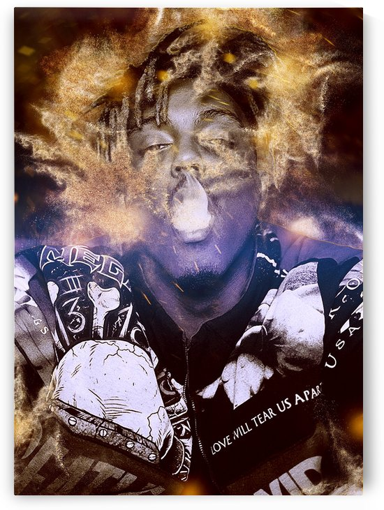 Juice wrld Smoking Dust Explosion by mimabags