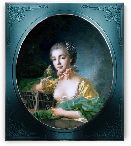 Portrait Of Madame Badouin The Artists Daughter by Francois Boucher Old Masters Classical Art Reproduction by xzendor7