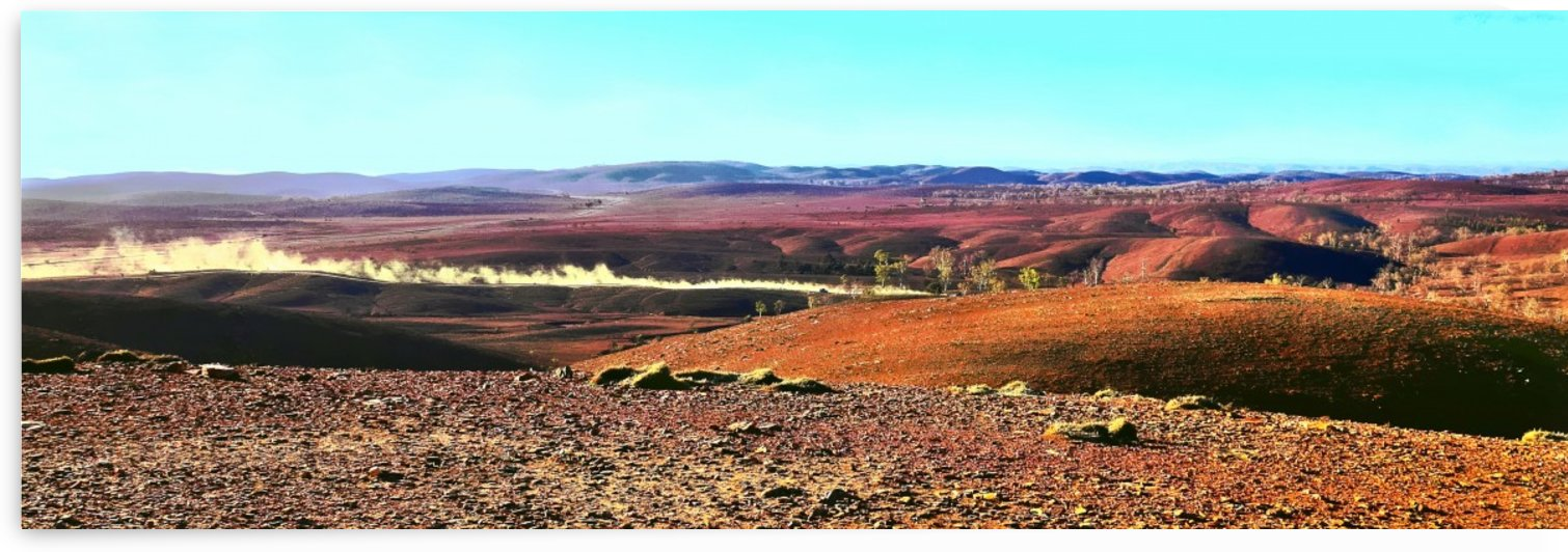 Kicking up Dust - Flinders Ranges by Lexa Harpell