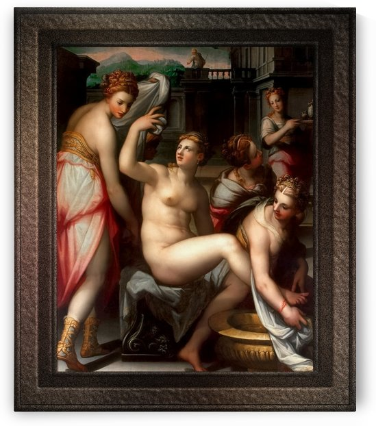 Bathsheba by Giovanni Battista Naldini Old Masters Fine Art Reproduction by xzendor7