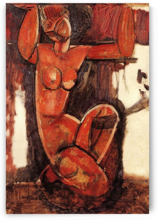 Modigliani - Caryatid -5- by Modigliani