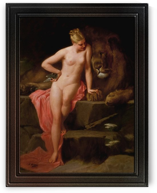 The Lion in Love by Adolphe Weisz Classical Art Old Masters Reproduction by xzendor7