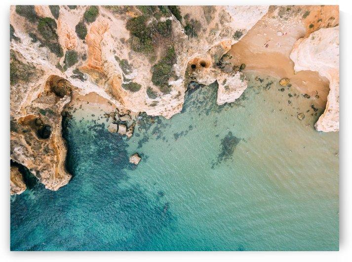 Aerial Ocean Landscape Lagos Bay Coast Aerial Algarve Portugal Ocean Print Ocean Art by Radu Bercan