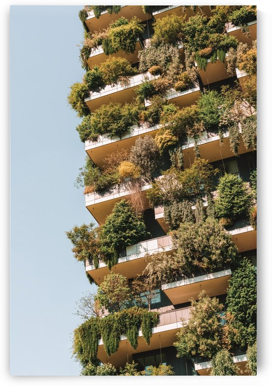 Modern Sustainable Architecture Bosco Verticale Vertical Forest Milan Towers Milano Italy Trees by Radu Bercan
