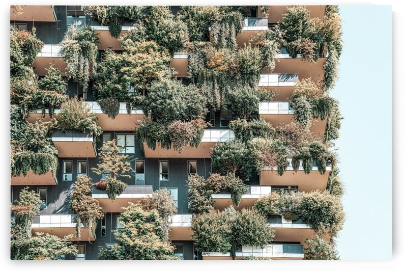 Bosco Verticale Vertical Forest Modern Sustainable Architecture Residential Towers In Milan Tree by Radu Bercan