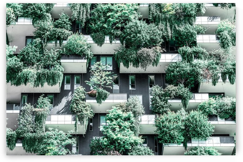 Bosco Verticale Building Facade Vertical Forest Modern Architecture Residential Towers by Radu Bercan