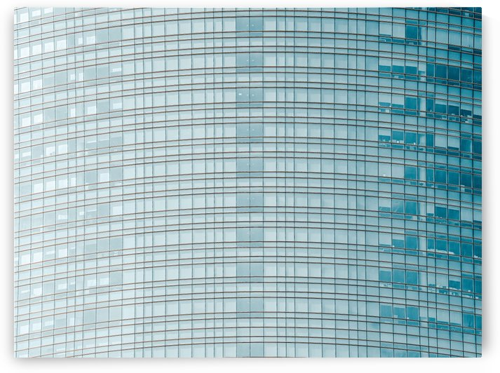 Glass Abstract Modern Architecture Print Lines Pattern Skyscraper Tower Building Transparent by Radu Bercan