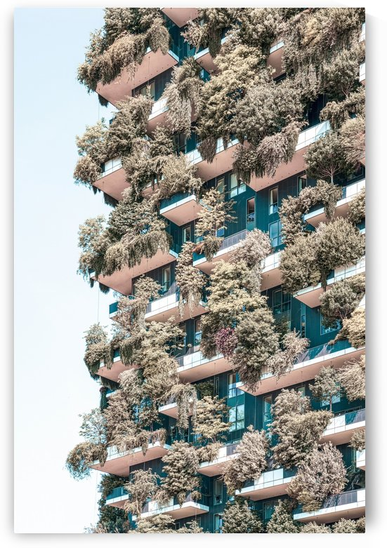 Bosco Verticale Print Vertical Forest Residential Towers In Milan Trees Shrubs Floral Plants by Radu Bercan