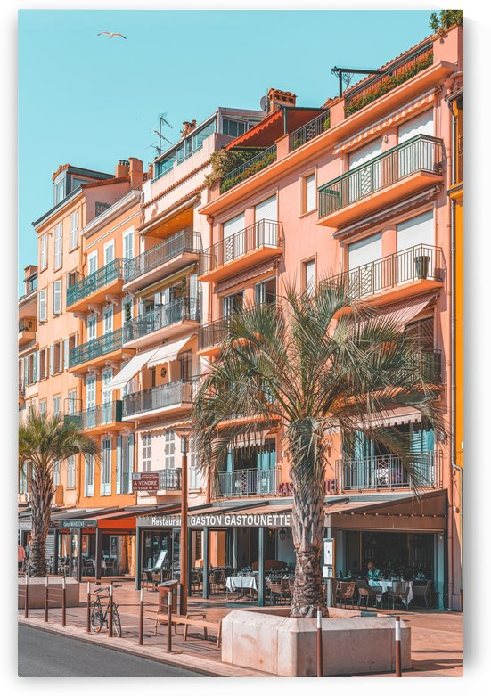 Beautiful Exotic Architecture Cannes City Print Vintage Print Urban French Riviera Print by Radu Bercan