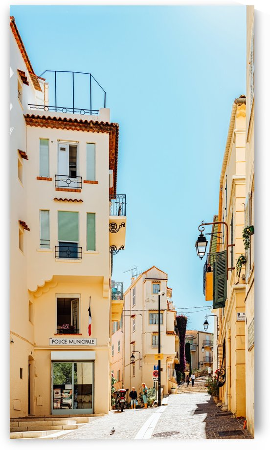 Cannes City Print French Riviera Summer Travel Print Charming Exotic Architecture Historic House by Radu Bercan