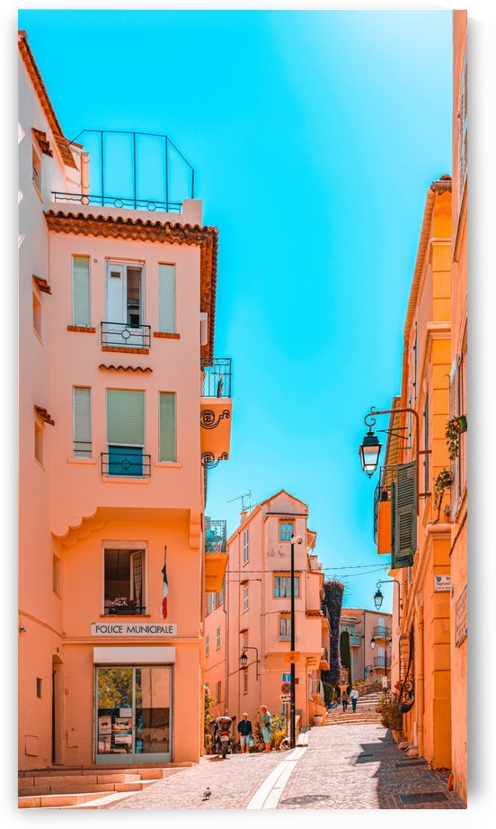 Beautiful Exotic Architecture Cannes City Street Historic Houses Downtown Cannes French Riviera by Radu Bercan