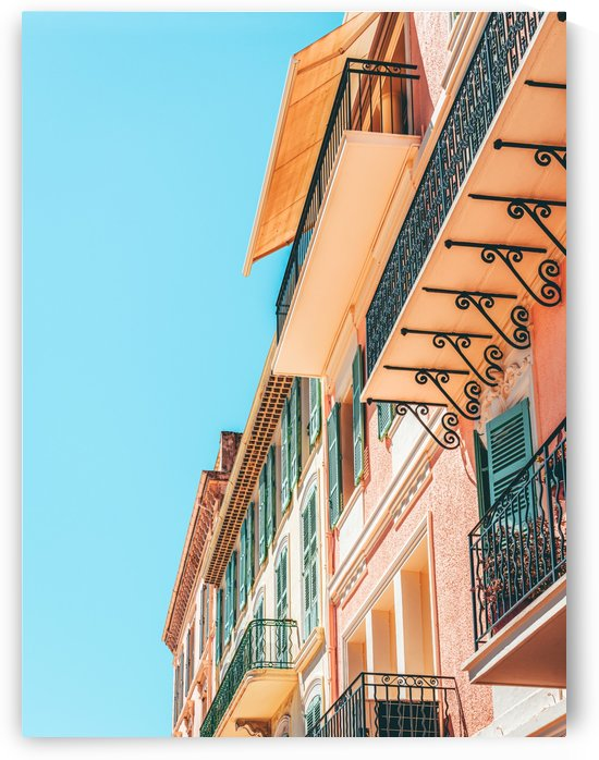 Cannes City Architecture Summer Travel Retro Print Historic Houses Downtown Old City Center by Radu Bercan