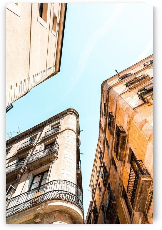 El Raval Gothic Quarter City Of Barcelona Poster Buildings Architecture Print Spain Perspective by Radu Bercan