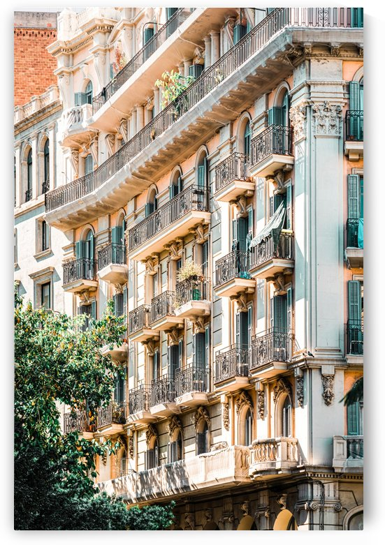 Barcelona City Print Building Architecture In Spain Travel Print Downtown Urban Details by Radu Bercan