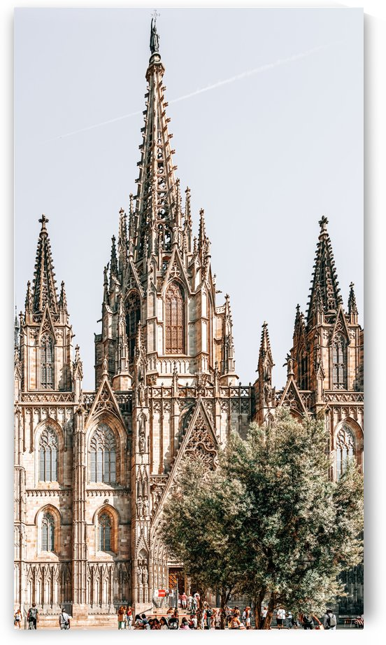 Barcelona Cathedral Cathedral Holy Cross Gothic Church Barcelona City Famous Landmark Urban by Radu Bercan