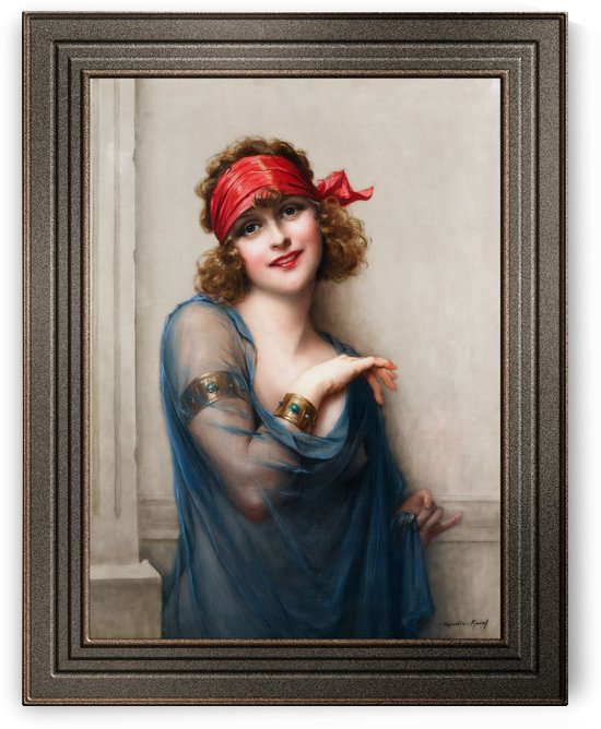 Le Voile Bleu by Francois Martin-Kavel Art Nouveau Vintage Old Masters Reproduction by xzendor7