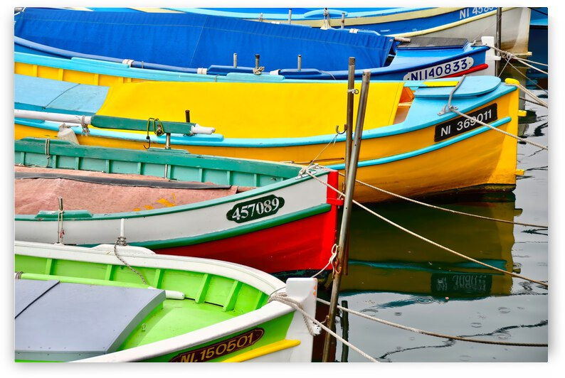 Fishing Boats ... Nice France by Fred J Bivetto