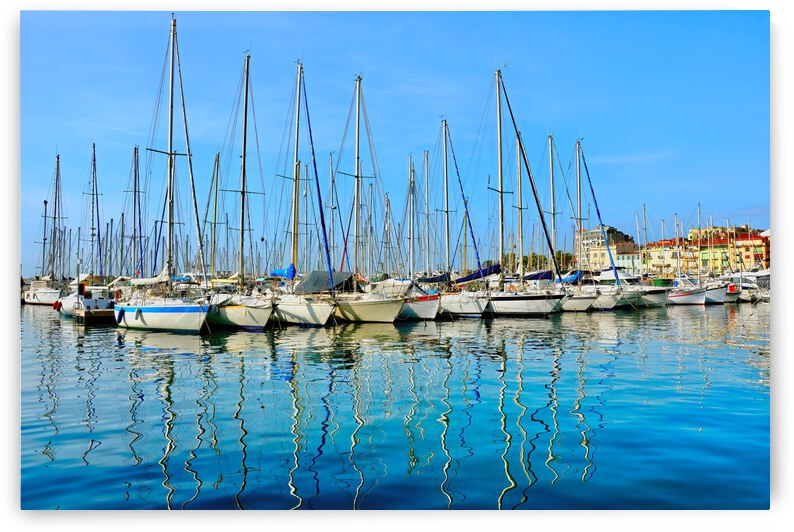 Shimmering Masts 1 ... Cannes France by Fred J Bivetto