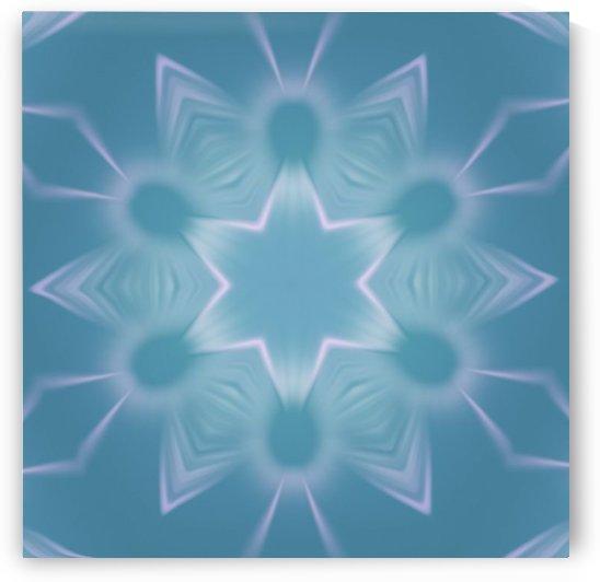 Blue Star Mandala 1 by Jenn Rosner
