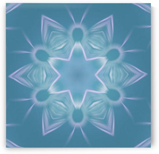 Blue Star Mandala by Jenn Rosner