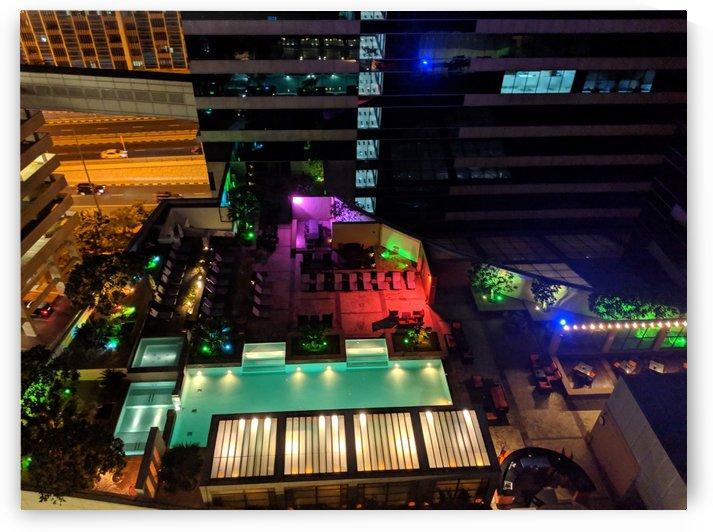 Dubai city at night  by VantagePoint