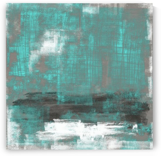 Scratched 24 teal by Imre Toth