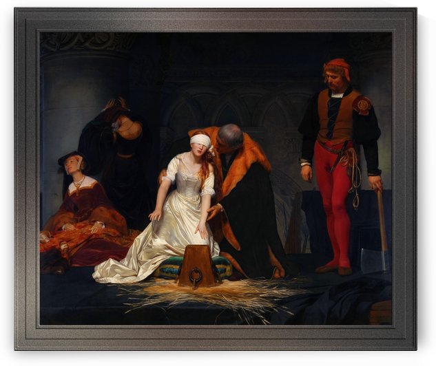 The Execution of Lady Jane Grey by Paul Delaroche Old Master Fine Art Reproduction by xzendor7