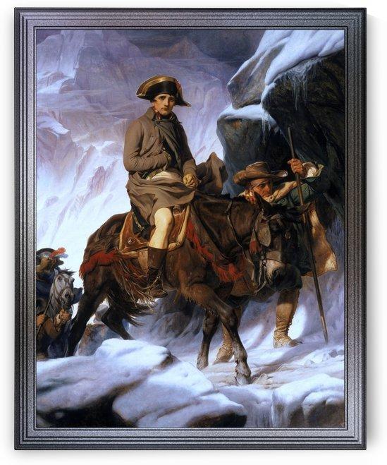 Napoleon Crossing the Alps by Paul Delaroche Old Masters Fine Art Reproduction by xzendor7