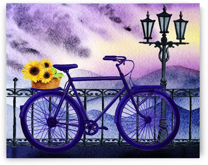 Bicycle And Sunflowers by Irina Sztukowski