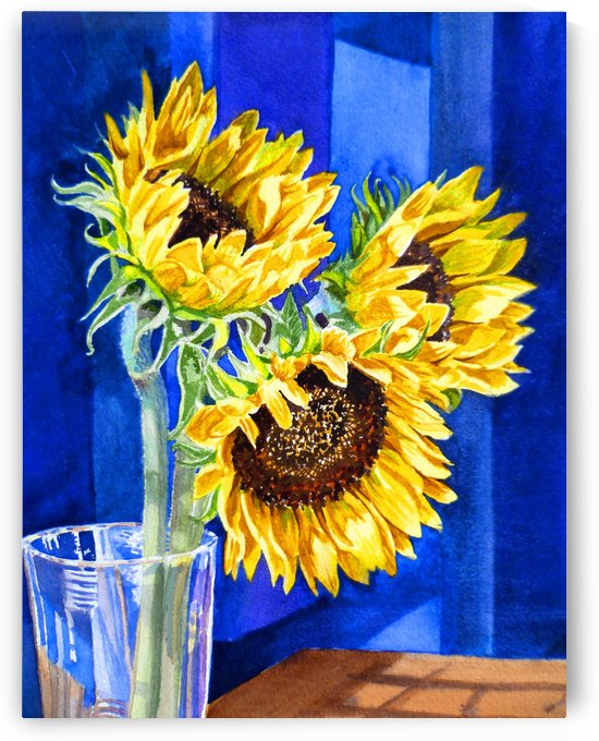 Sunflowers Blues  by Irina Sztukowski