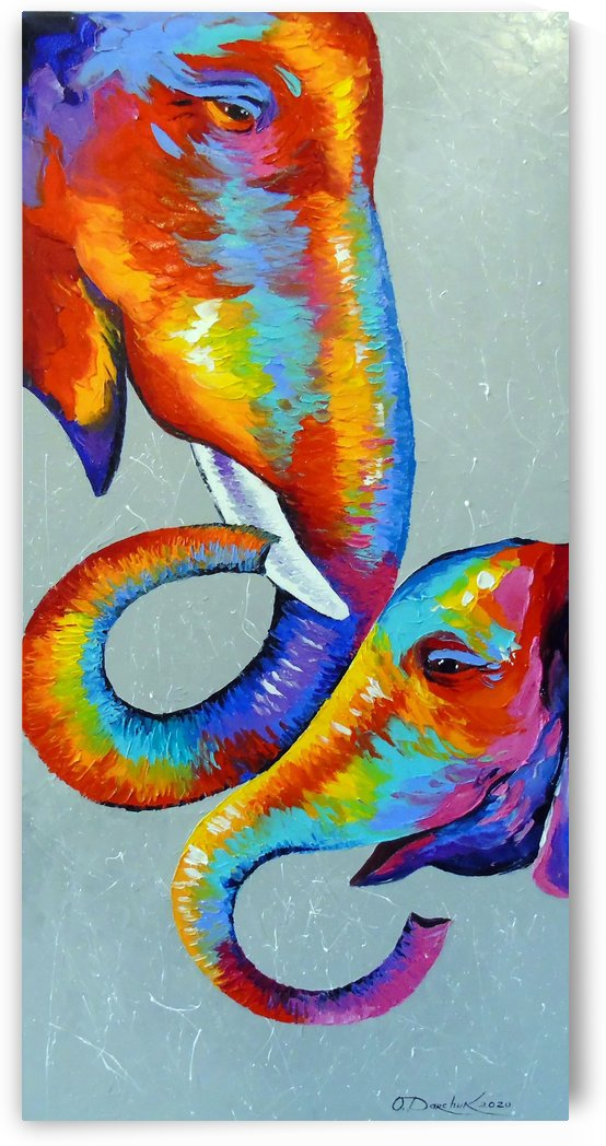 Love elephants by Olha Darchuk