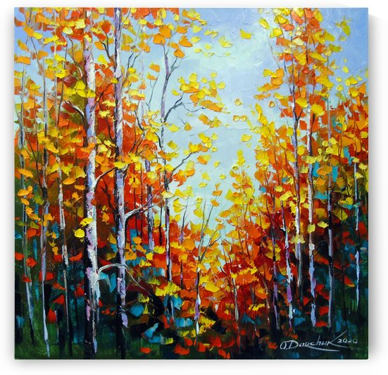 Autumn breath of birches by Olha Darchuk