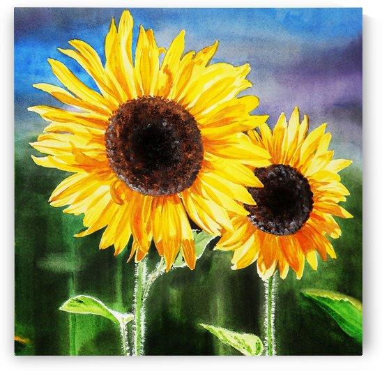Two Suns Two Sunflowers by Irina Sztukowski