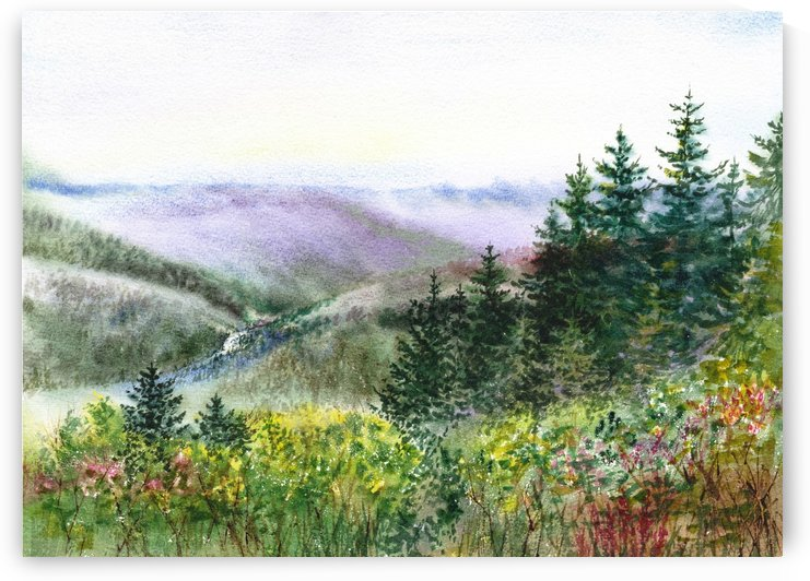 Landscape With Redwood Creek  by Irina Sztukowski