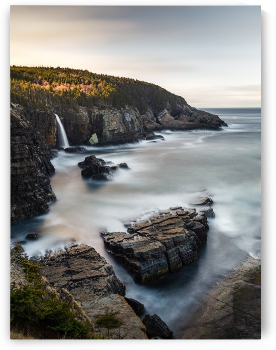 Pouch Cove Waterfall I by Alex Bihlo