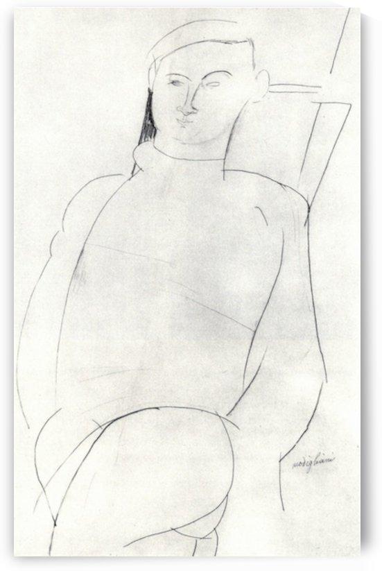 Modigliani - Jacques Lipchitz by Modigliani