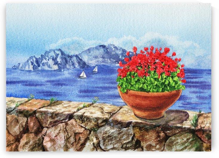 Italy Amalfi Coast Vew Of Anacapri by Irina Sztukowski