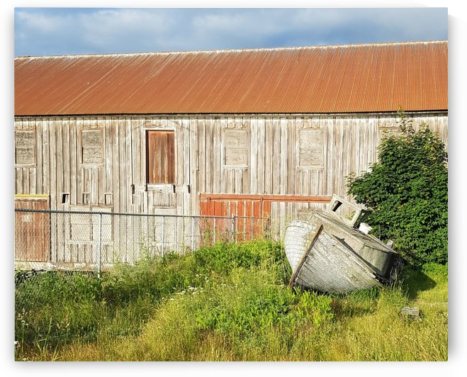 Old Barn &  Wooden Boat Historic Site - Semiahmoo - 2020 by Marco Menezes