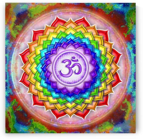 Crown Chakra Rainbow Lotus - Series V by Dirk Czarnota