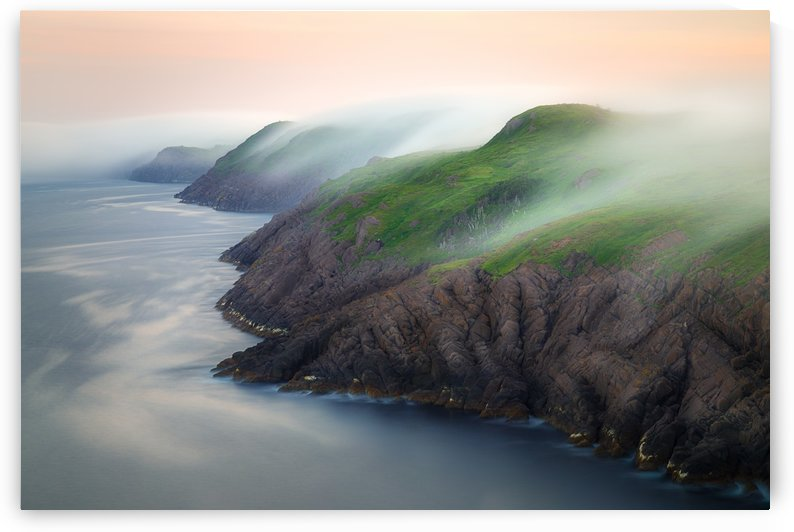 Rolling fog over Cape Spear by Alex Bihlo