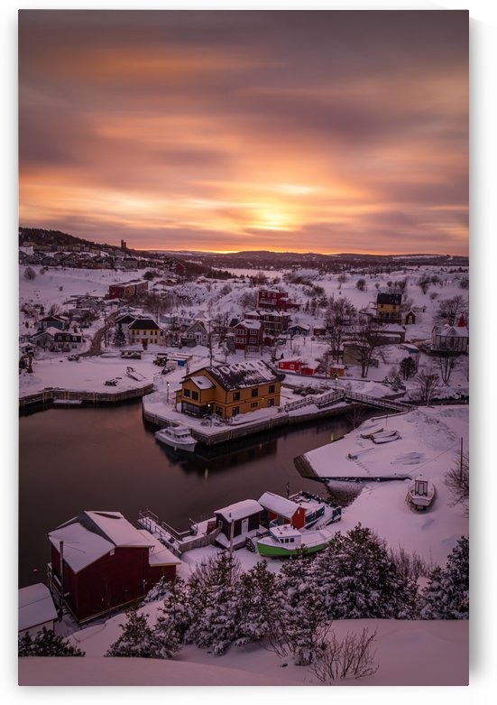 Quidi Vidi winter sunset by Alex Bihlo