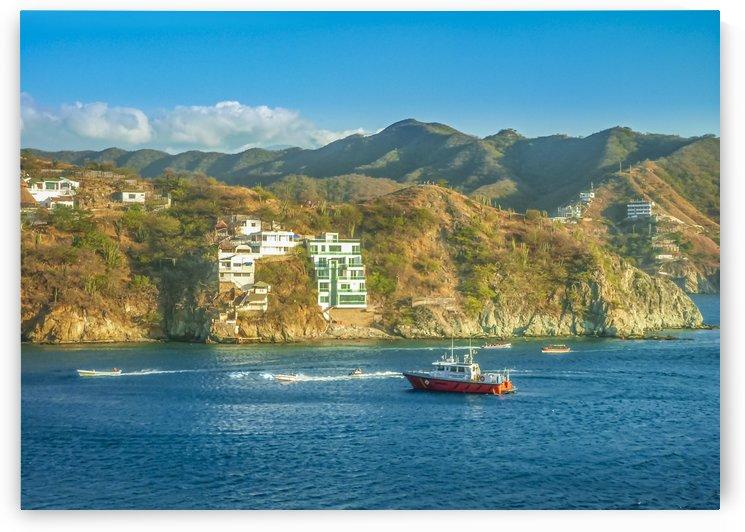 Taganga Bay Landscape Colombia by Daniel Ferreia Leites Ciccarino